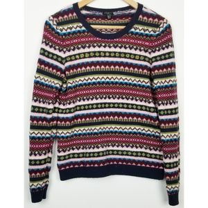Talbots MP wool blend pullover sweater beaded